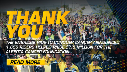 Enbridge Ride to Conquer Cancer benefiting the Alberta Cancer Foundation Sponsor